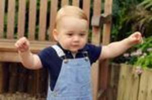Walk this way: New photo marks Prince George's birthday