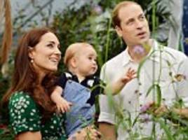 How a year has fluttered by: Prince George's meeting with a butterfly captured in new pictures released to mark him turning one