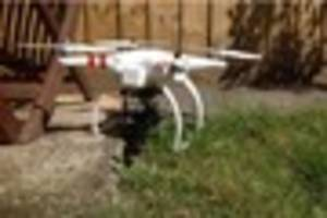 Drone helicopter crash lands in Paignton garden