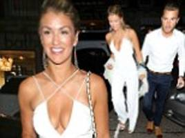 amy willerton flashes cleavage during dinner date with mystery man