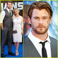 chris hemsworth supports his fellow superheroes at 'guardians of the galaxy' uk premiere!