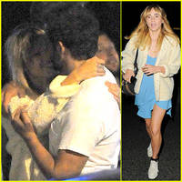 bradley cooper embraces girlfriend suki waterhouse on set