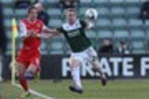 Former Argyle left-back Matt Parsons in FA Cup action for Kent...