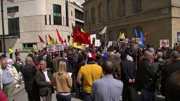 WATCH: Anti-ISIS Protests in London Populated by Kurds, Communists, and PKK Supporters
