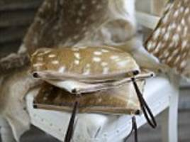 Fur flies over luxury clutch bags and iPad cases made out of deer fur