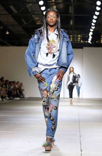 One Direction, Kim Kardashian, Kanye West and Miley Cyrus feature in the SS15 Ashish collection at LFW - PICS