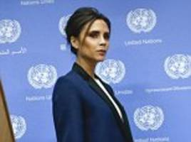 Becks minds the shop: New goodwill ambassador Victoria wows UN in New York as her first fashion store opens its doors in London