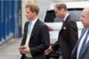 Prince Harry and Prince William attend society wedding of...