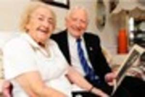 PLATINUM PAIR: Borrowash couple Jack and Gwen Goddard celebrate...