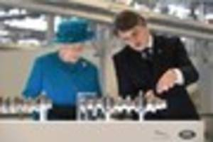 PHOTOS: The Queen opens the new Jaguar Land Rover plant in...