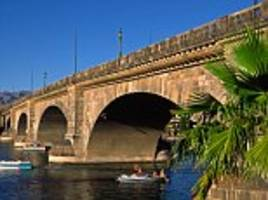 London Bridge IS falling down: Van crashes into Arizona bridge that was bought from UK for $2million and reassembled brick by brick