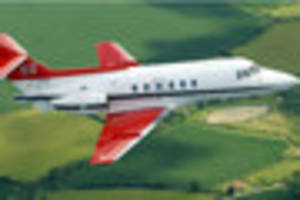 Queen's flight lands at Gloucestershire Airport in Staverton as...