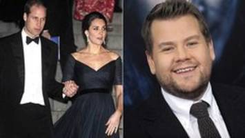 James Corden deemed security risk on New York flight with Prince William, Duchess Kate