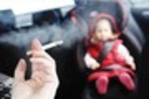 Smoking with children in cars to be illegal in England