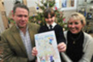 Year three pupil wins Lincoln MP's Christmas card contest