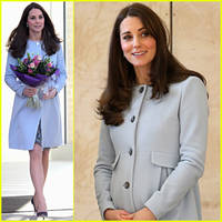 Kate Middleton Cradles Her Growing Baby Bump at the Kensington Leisure Centre