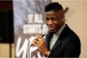 The Voice champ Jermain Jackman sings and inspires at Hessle High...