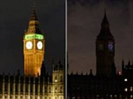 The hour the Earth went dark: Big Ben and London Eye among 700 landmarks plunged into darkness around the world as millions of homes switch off power to raise awareness of climate change