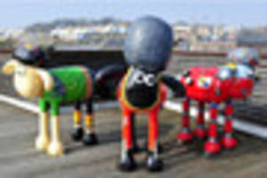 Shaun the Sheep sculptures ticked off 100,000 times...