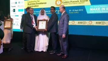 Astrazure Receives 'Special Commendation' for 'Golden Peacock National Training Award' for the Year 2015
